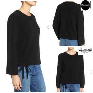 Madewell Flare Sleeve Crop Cashmere Sweater Small